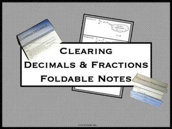 Clearing Decimals & Fractions Foldable