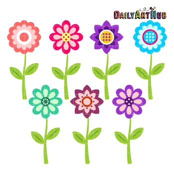 Clementine Flowers Clip Art - Great for Art Class Projects!
