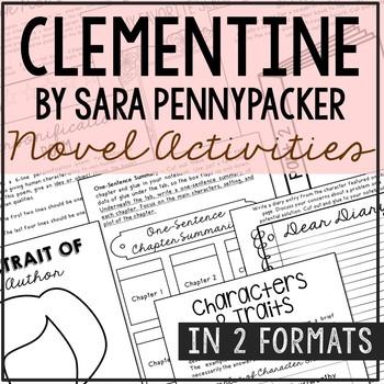 Clementine Novel Unit Study Activities, Book Report, Vocabulary