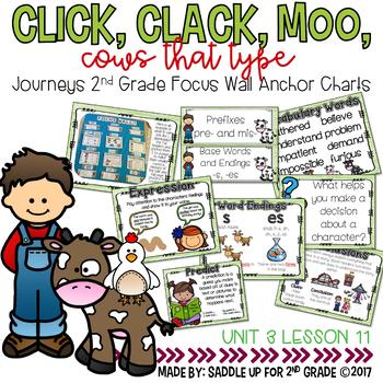 Click, Clack, Moo Cows That Type Focus Wall Anchor Charts