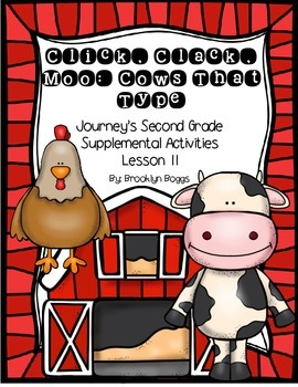 Click Clack Moo Journey's Activities - Second Grade Lesson 11