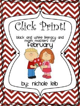 Click Print! February (1st Grade)