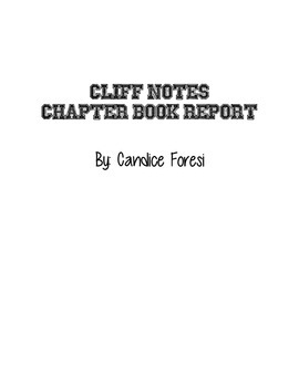 Cliff Notes Book Report