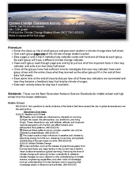 Climate Change Lesson Plan for Middle and High School