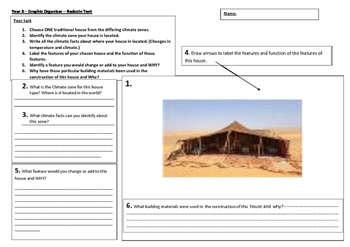 Climate Dwellings - Bedouin Graphic Organiser