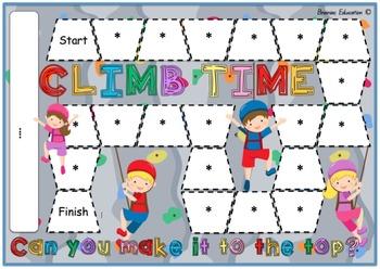 Climb Time - Blank Board Game (EDITABLE)
