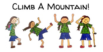 Climb a Mountain Clipart