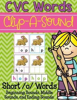 Clip-A-Sound CVC Words {Short o}