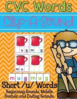 Clip-A-Sound CVC Words {Short u}