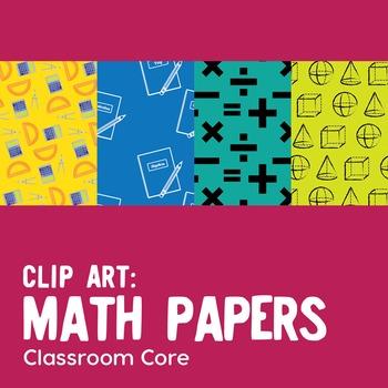 Clip Art: 30 Math Papers