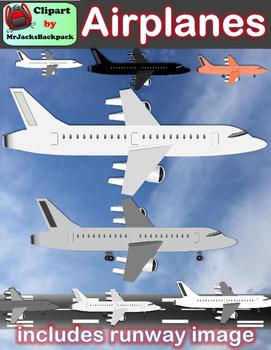 Clip Art Airplanes + Free runway