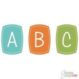 Alphabet - Boys Will Be Boys Clipart