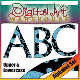 Clip Art: Alphabet Set, Upper and Lowercase fonts font