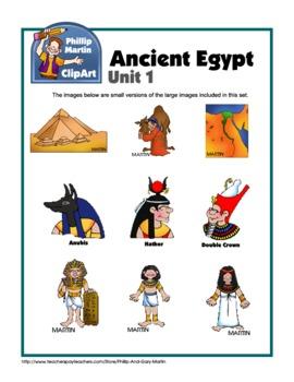 Clip Art Ancient Egypt Unit 1