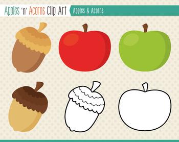 Apples 'n' Acorns Clip Art Freebie