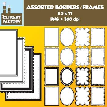 Clip Art: Borders and Frames - 16 Fun decorative page bord