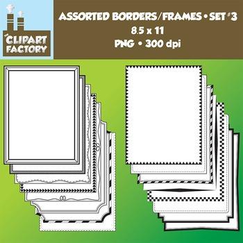 Clip Art: Borders and Frames-Set 3 - 16 Fun decorative pag