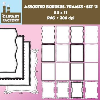 Clip Art: Borders and Frames-Set 2 - 16 Fun decorative pag
