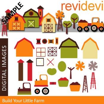 Clip Art: Build your little farm (DIY barnyard)