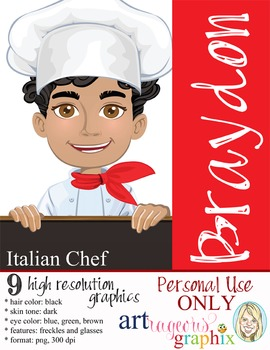 Clip Art - CHEF BRAYDON - male, boy, student, digital grap