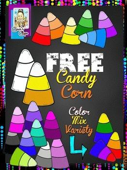 FREE Clip Art~ Halloween Candy Corn