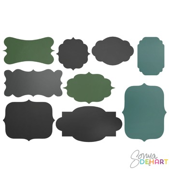 Frames -  Chalkboard Chalk Frames Clipart
