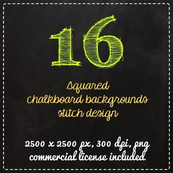 Clip Art Chalkboard squares background labels Clipart - co