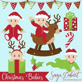 Clip Art: Christmas Baby Boys