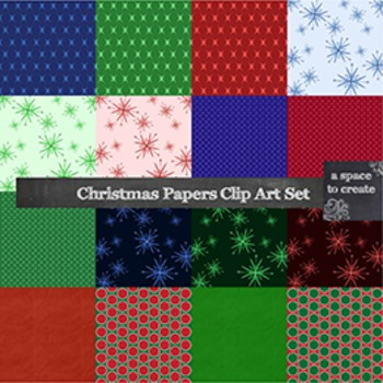 Clip Art: Christmas Digital Paper