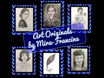 Clip Art Collection: Jackie O., Frida, Poe, Dickinson, Pav