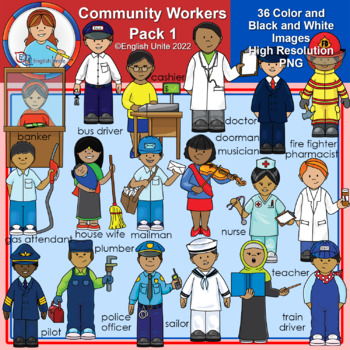 Clip Art - Community Workers Pack 1