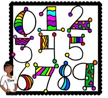Clip Art Dollar Deal-Doodle Number Set