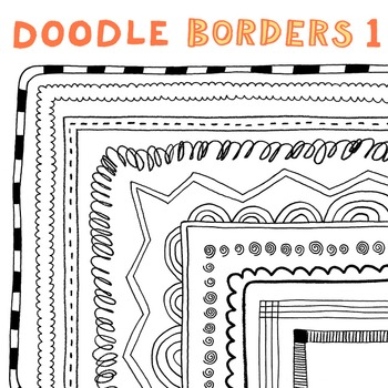 Clip Art: Doodle Borders 1: Hand-Drawn Borders for Persona