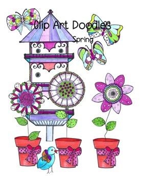 Clip Art Doodles for Spring