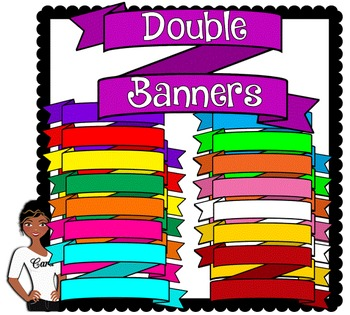 Clip Art~ Double Banners / Headers