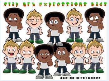 Clip Art Expressions Kids