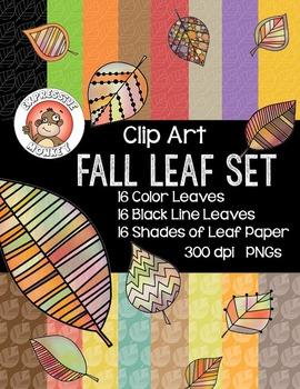 Clip Art: Fall Leaf Set