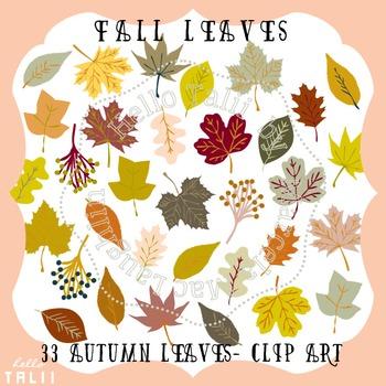 Clip Art: Fall Leaves