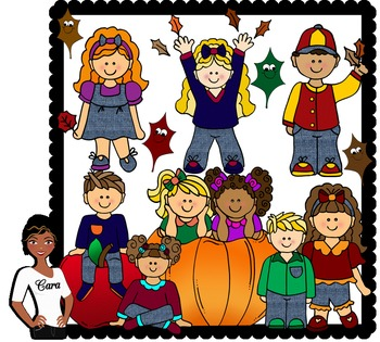 Clip Art~ Fall Season Kids
