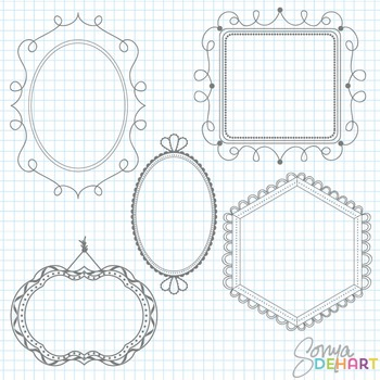 Frames -  Fancy Doodles Clipart