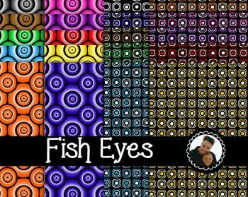 Clip Art~ Fish Eyes Digital Paper Collection