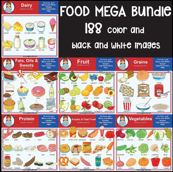 Clip Art - Food Mega Bundle
