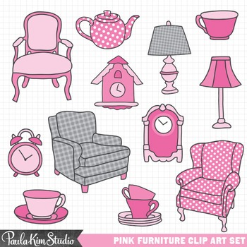 Clip Art - Furniture Pink