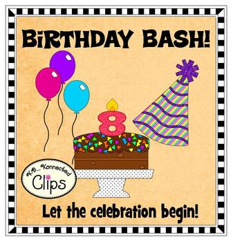 "Clip Art! Get your Party on with ""Birthday Bash""!"