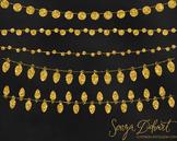 Clip Art - Gold Glitter Lights