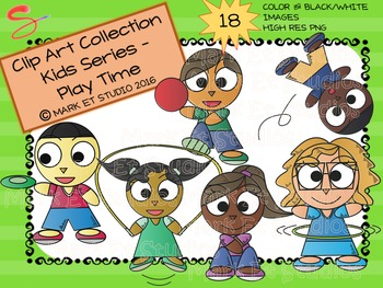 Clip Art - Graphics - Kids Series - Play Time