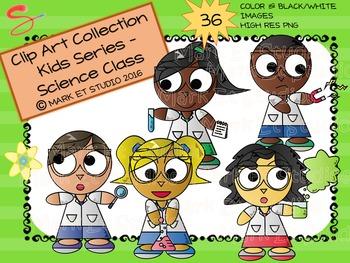 Clip Art - Graphics - Kids Series - Science Class