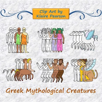 Clip Art: Greek Mythological Creatures