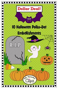 Clip Art - Halloween Polka-Dot Embellishments