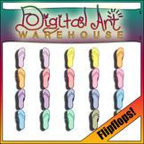 Clip Art: High Quality Colored Flip Flops Flop Color